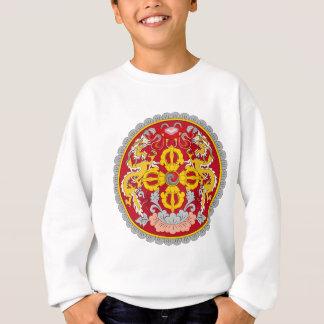ブータンの紋章。 ドラゴンのモチーフ スウェットシャツ