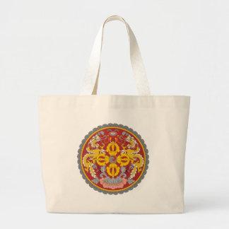 ブータンの紋章 ラージトートバッグ