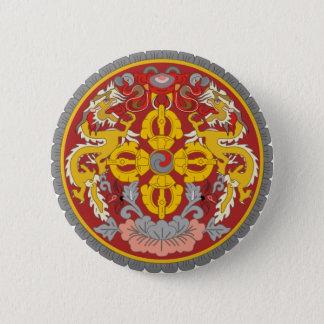 ブータンの紋章 5.7CM 丸型バッジ