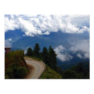 ブータンの道 ポストカード
