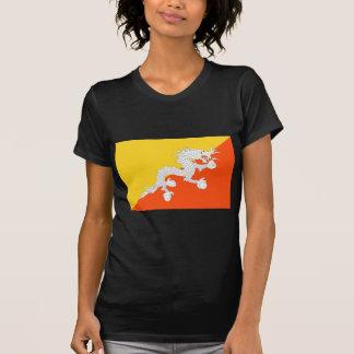 ブータン- ཧྥの་のརནの་のསの་のཀྱིの་のདརの་のཆ -の旗ཧྥの་のརནの་のསの་の Tシャツ