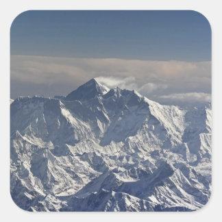 ブータン。 エベレスト山の永遠の雪、 スクエアシール