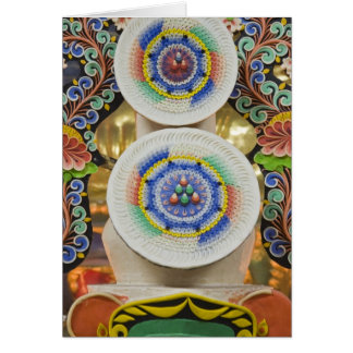 ブータン。 修道士がなす正式のケーキは飾ります カード