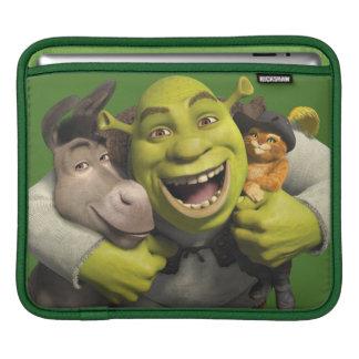 ブーツのろば、Shrekおよび小娘 iPadスリーブ