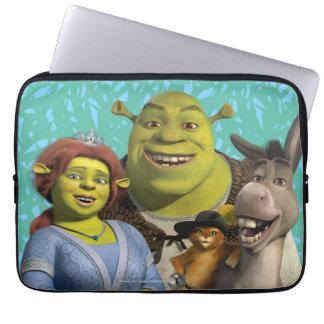 ブーツのフィオナ、Shrek、小娘、およびろば ラップトップスリーブ