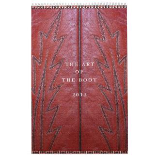 ブーツカレンダーの芸術 カレンダー
