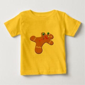 ブードゥーのジンジャーブレッドマンのクリスマスのユーモア ベビーTシャツ