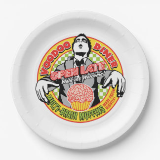 ブードゥーのダイナーのカスタムな紙皿9つ 紙皿 大