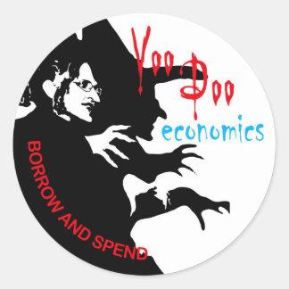 ブードゥーの経済学のステッカー ラウンドシール