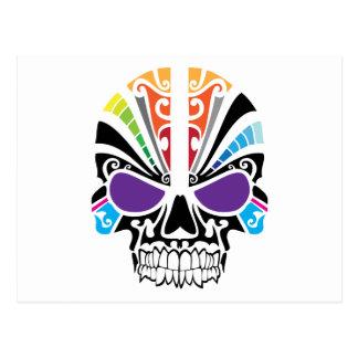 ブードゥーの虹のスカル ポストカード