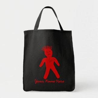 ブードゥーの赤い人形 トートバッグ