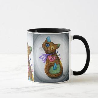 ブードゥー猫の人形のパッチワーク猫のゴシック様式芸術のマグ マグカップ