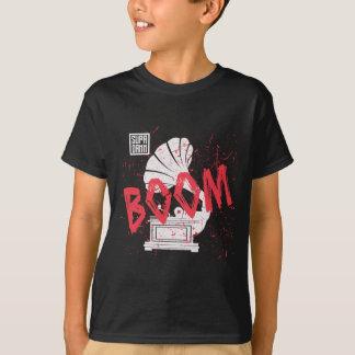 ブームの蓄音機の黒 Tシャツ