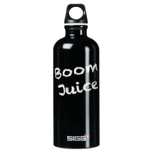 ブームジュース-白い執筆 ウォーターボトル