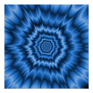 ブーム! 青Zazzle完全なポスター ポスター