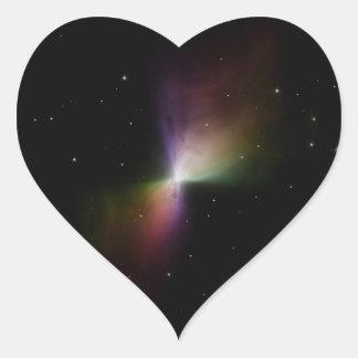 ブーメランの星雲のステッカー ハートシール