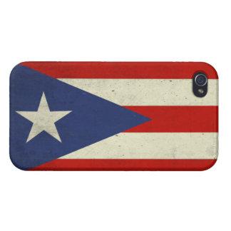 プエルトリコからの汚れた旗が付いているiPhoneの皮 iPhone 4 カバー