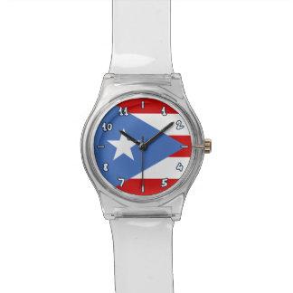 プエルトリコのお洒落な旗: 伝統的 腕時計