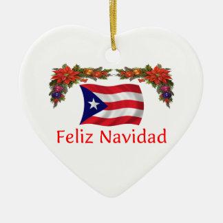 プエルトリコのクリスマス セラミックオーナメント