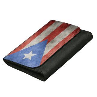 プエルトリコのグランジな旗 ウォレット