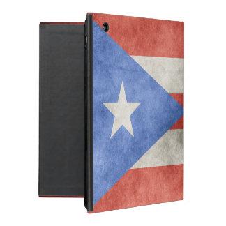 プエルトリコのグランジな旗 iPad ケース