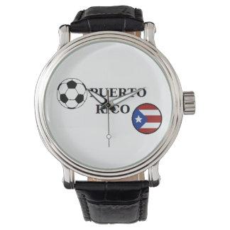 プエルトリコのサッカーの腕時計 リストウォッチ