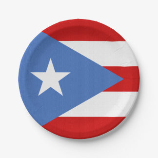 プエルトリコのテーマの旗 ペーパープレート