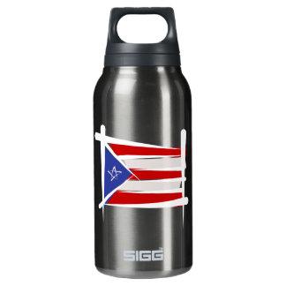 プエルトリコのブラシの旗 断熱ウォーターボトル
