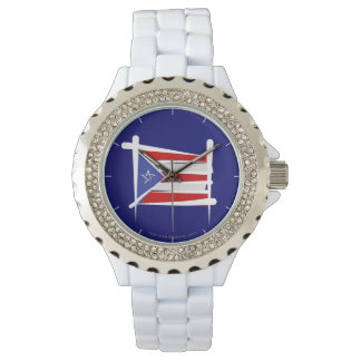 プエルトリコのブラシの旗 腕時計