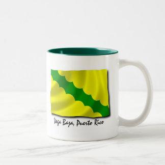 プエルトリコのマグ; Vega Baja ツートーンマグカップ