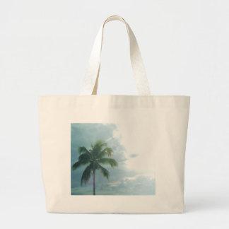 プエルトリコのヤシの木のビーチのバッグ ラージトートバッグ