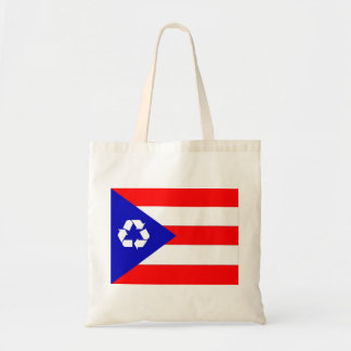 プエルトリコのリサイクルの旗のバッグ トートバッグ