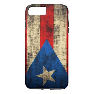 プエルトリコのヴィンテージの旗 iPhone 8 PLUS/7 PLUSケース