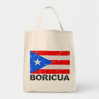 プエルトリコのヴィンテージの旗Boricua トートバッグ