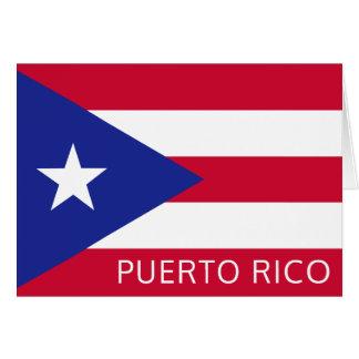 プエルトリコの国旗 カード