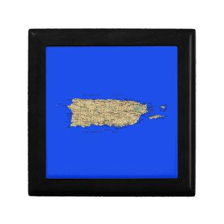 プエルトリコの地図のギフト用の箱 ギフトボックス