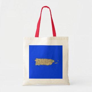 プエルトリコの地図のバッグ トートバッグ