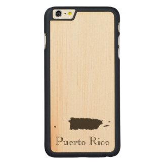 プエルトリコの地図 CarvedメープルiPhone 6 PLUS スリムケース