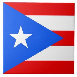 プエルトリコの州の旗のタイル タイル
