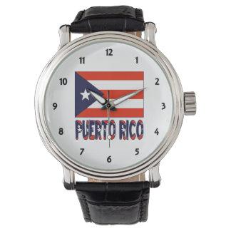 プエルトリコの旗およびPuretoリコ 腕時計