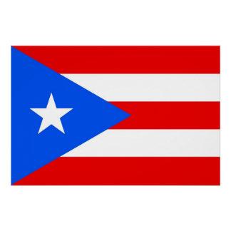 プエルトリコの旗が付いている愛国心が強いポスター ポスター
