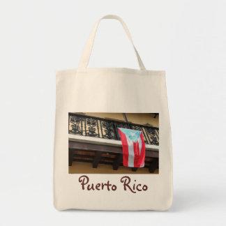プエルトリコの旗のオーガニックな戦闘状況表示板 トートバッグ