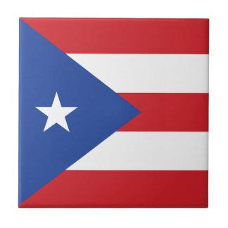 プエルトリコの旗のタイル タイル