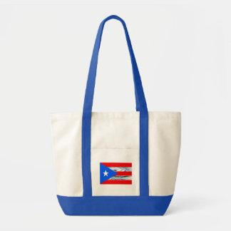 プエルトリコの旗のハリケーンのトートバック トートバッグ