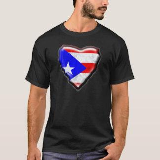 プエルトリコの旗のハート Tシャツ