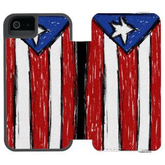 プエルトリコの旗の箱 INCIPIO WATSON™ iPhone 5 財布 ケース