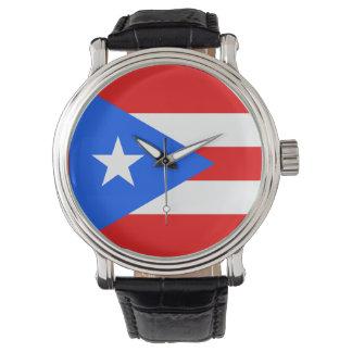 プエルトリコの旗の腕時計 ウオッチ