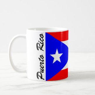 プエルトリコの旗 コーヒーマグカップ