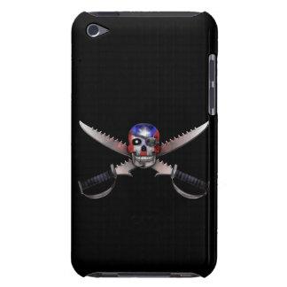 プエルトリコの旗-スカルおよび交差させた剣 Case-Mate iPod TOUCH ケース