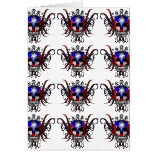 プエルトリコの旗-スカル カード